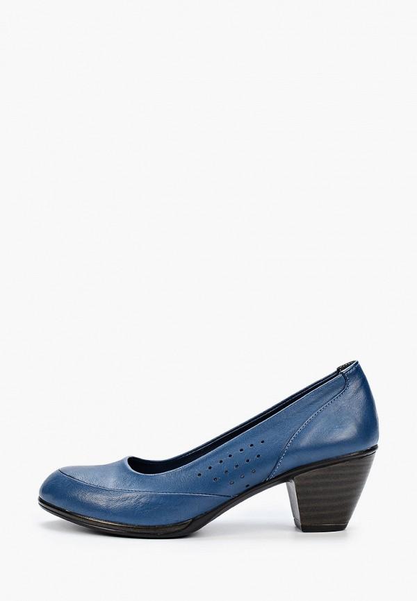 женские туфли с закрытым носом airbox, синие