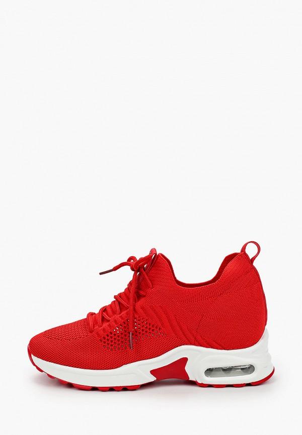 женские низкие кроссовки v.i.konty, красные