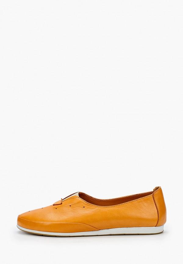 женские туфли с закрытым носом airbox, оранжевые