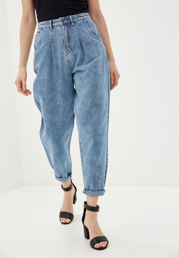 женские джинсы бойфренд sela, голубые
