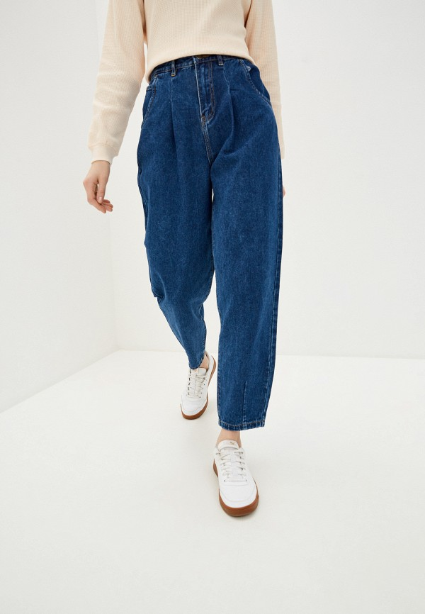 женские джинсы бойфренд sela, синие