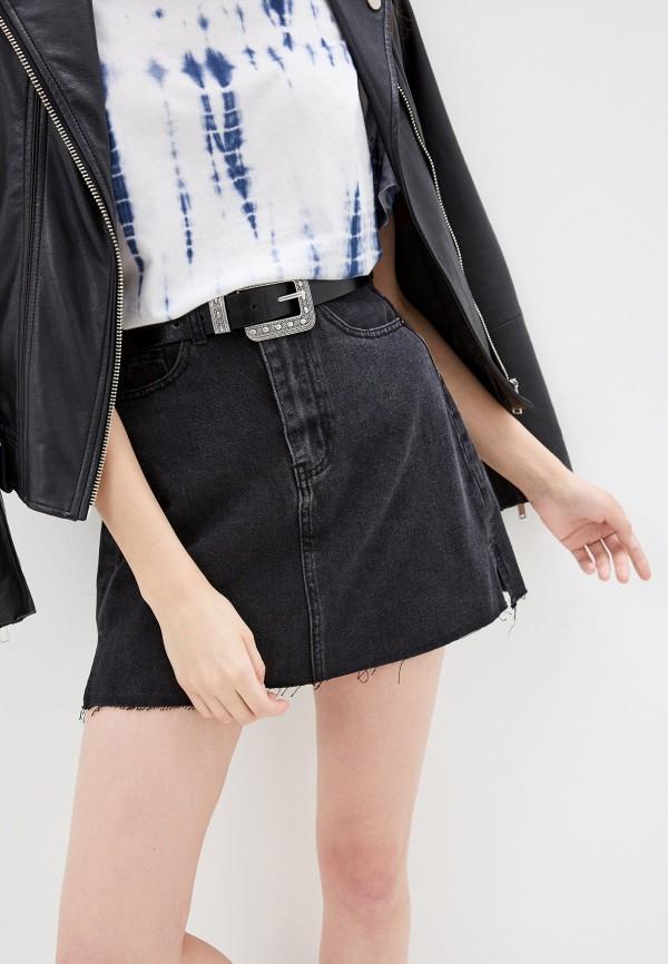 Фото - Юбку джинсовая Befree черного цвета