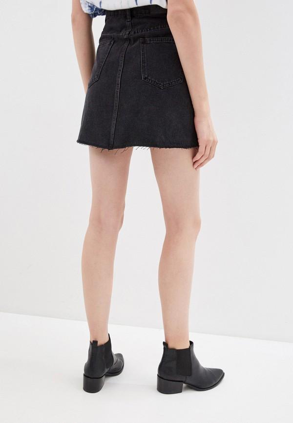Фото 3 - Юбку джинсовая Befree черного цвета