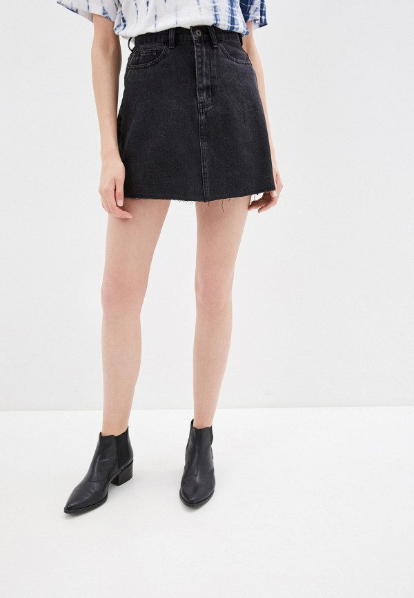 Фото 4 - Юбку джинсовая Befree черного цвета