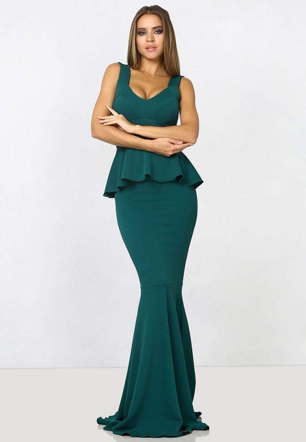 женское платье макси zerkala, зеленое