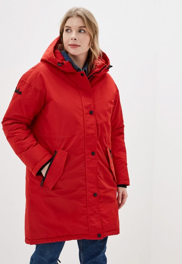 женская утепленные куртка tom farr, красная