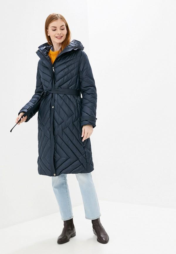 женская утепленные куртка tom farr, синяя
