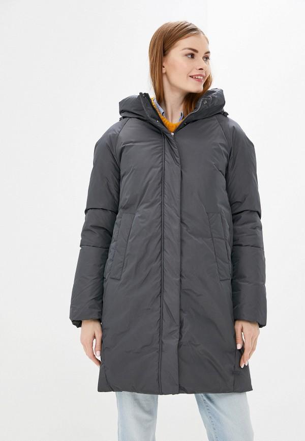 женская утепленные куртка tom farr, серая