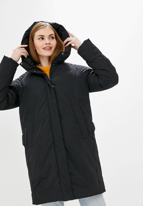 женская утепленные куртка tom farr, черная