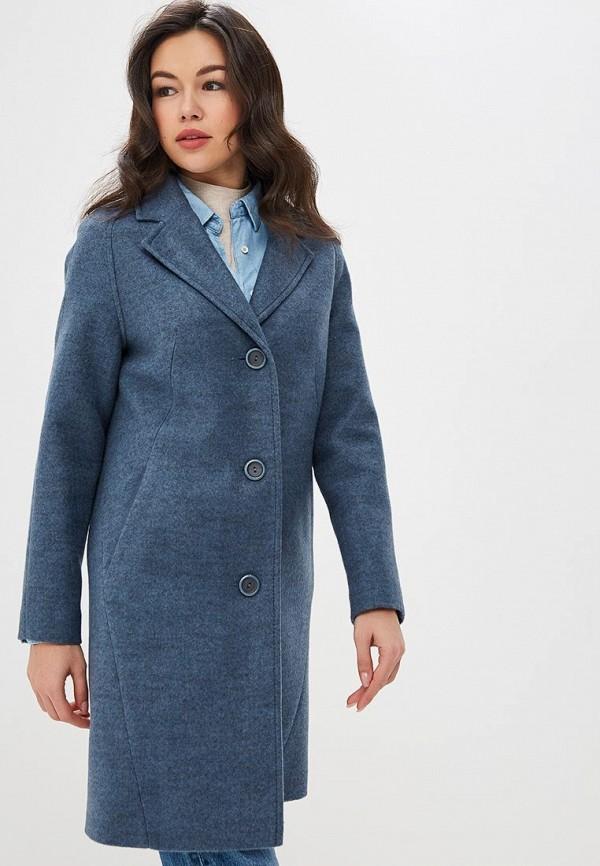 женское пальто ovelli, голубое