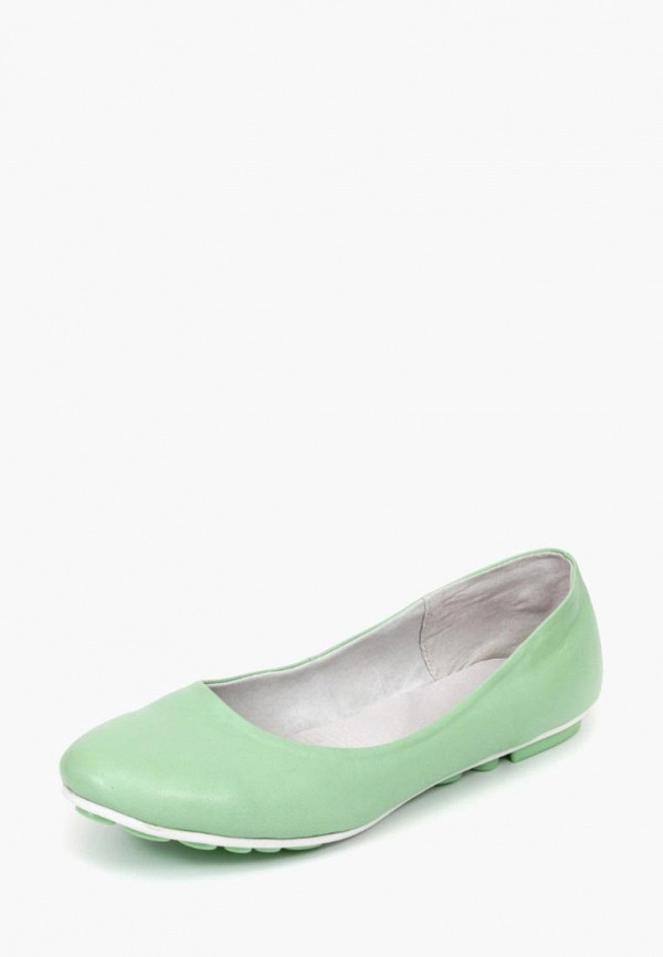женские балетки tops, зеленые