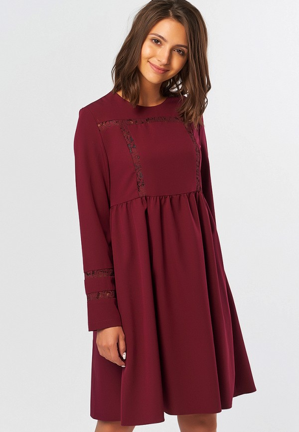 Платье Fly бордового цвета