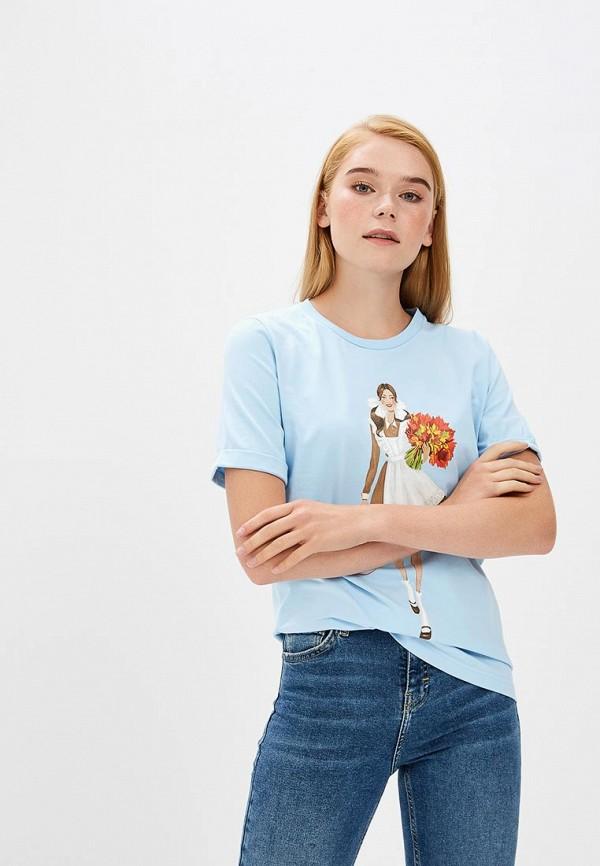 Купить Футболка Fashion.Love.Story, mp002xw1gkww, голубой, Весна-лето 2018