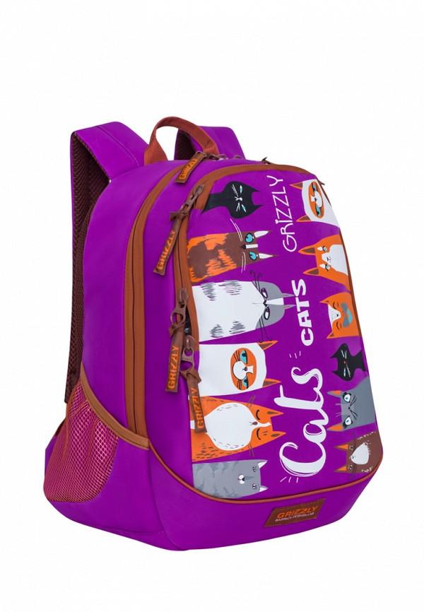 Рюкзак Grizzly цвет фиолетовый  Фото 2