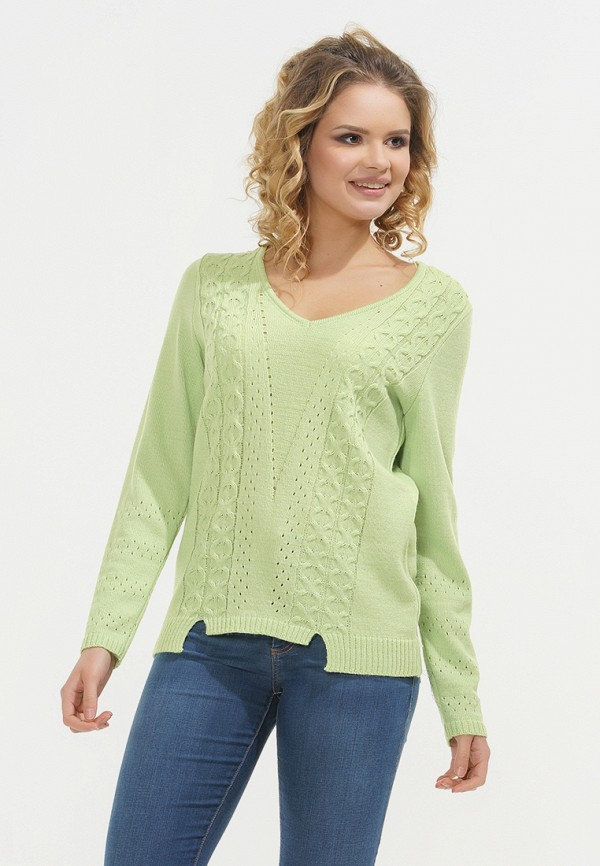 женский пуловер vay, зеленый