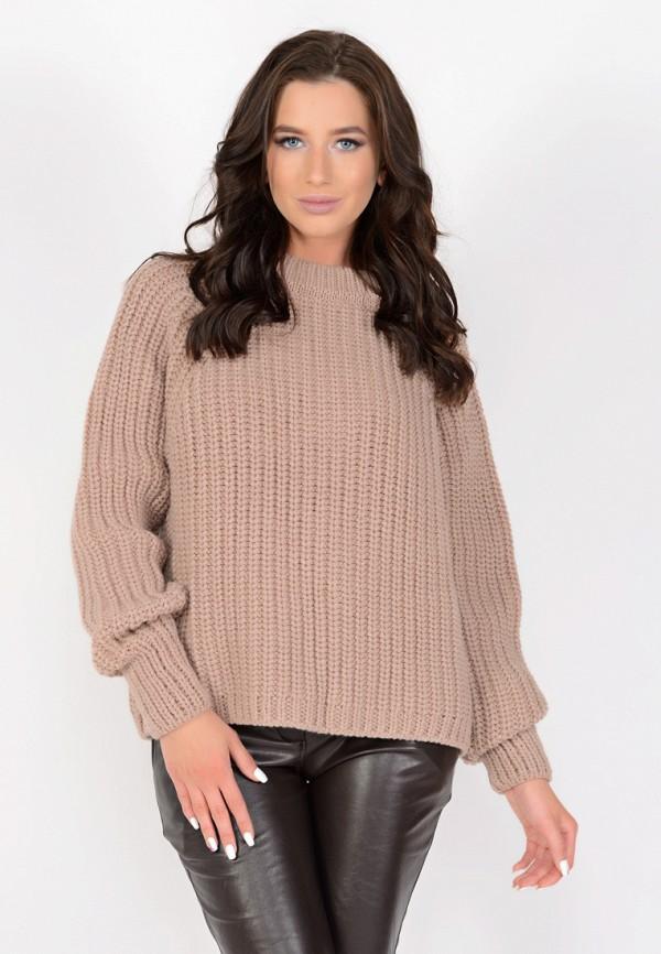 женский свитер irma dressy, коричневый
