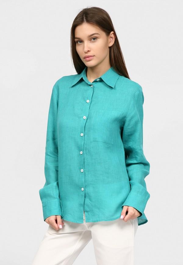 женская рубашка с длинным рукавом inna lee, бирюзовая