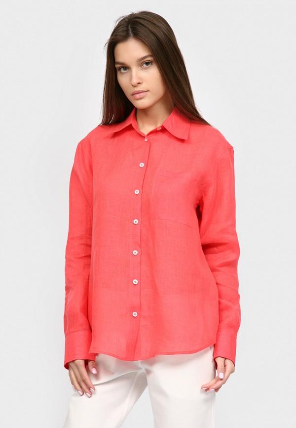 женская рубашка с длинным рукавом inna lee, красная