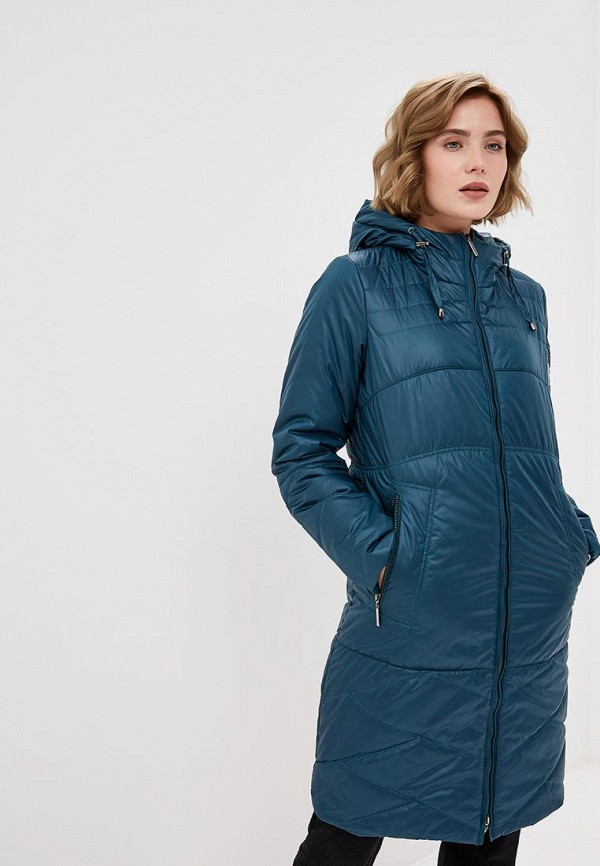 женская куртка dizzyway, бирюзовая