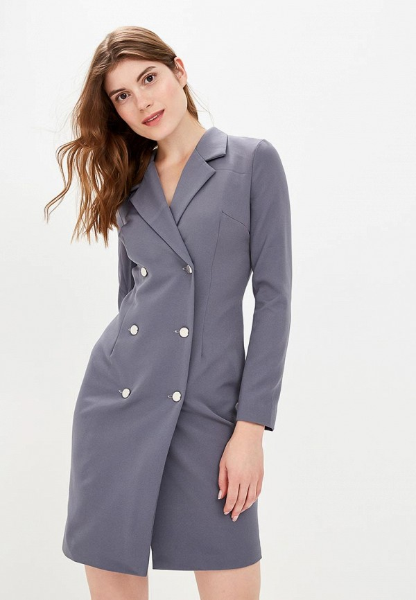 женское платье zerkala, серое