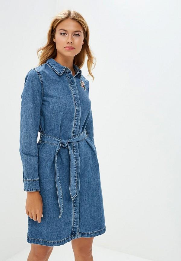 Купить Платье джинсовое Incity, MP002XW1GM6X, синий, Осень-зима 2018/2019