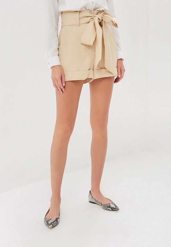 женские повседневные шорты olga skazkina, желтые