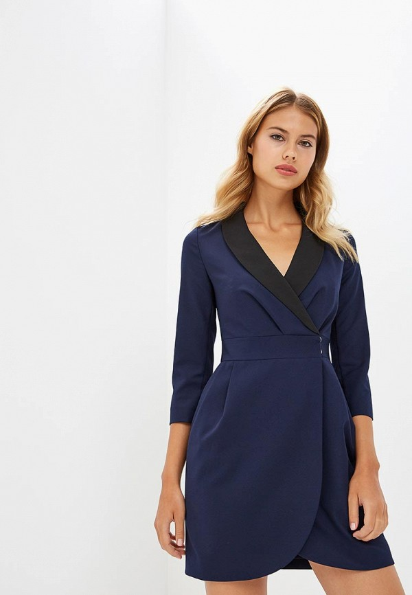 Платье Self Made Self Made MP002XW1GMR5 self belted solid dress