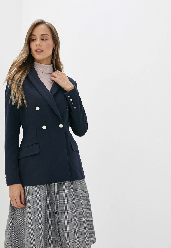 женский пиджак self made, синий