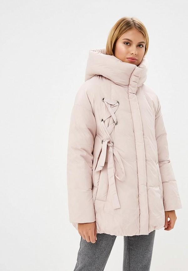 женский пуховик la reine blanche, розовый