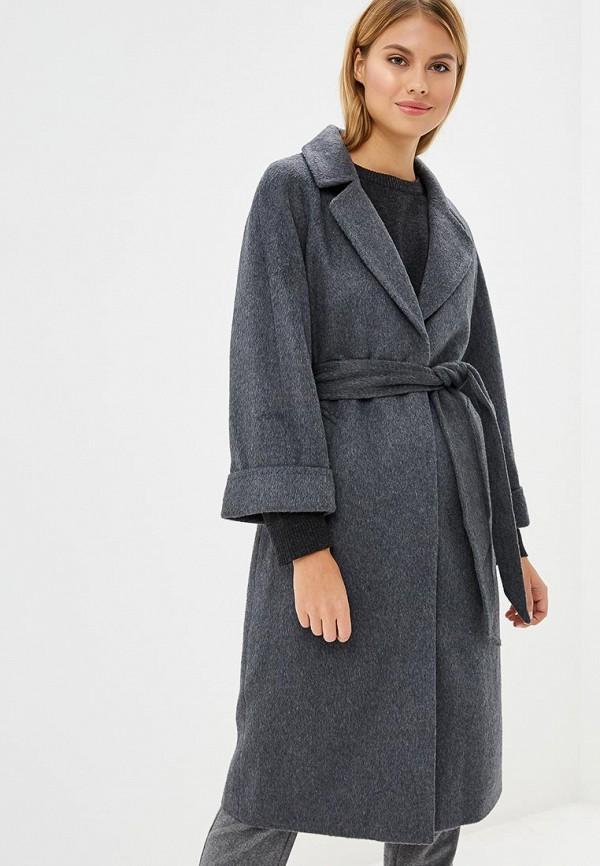 женское пальто la reine blanche, серое