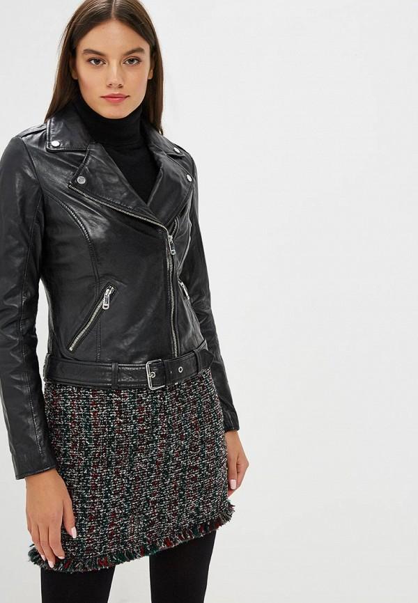 Купить Куртка кожаная La Reine Blanche, mp002xw1gmv4, черный, Осень-зима 2018/2019
