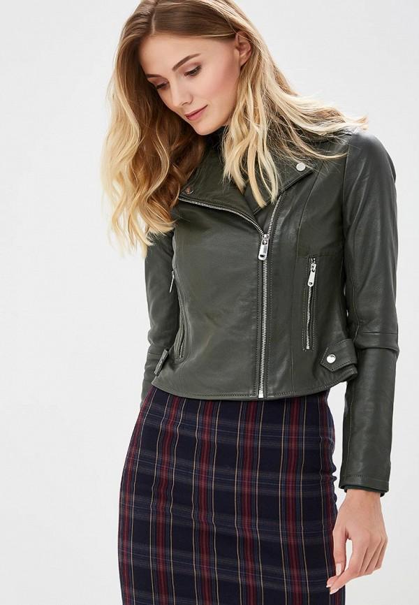 Купить Куртка кожаная La Reine Blanche, mp002xw1gmv5, хаки, Осень-зима 2018/2019