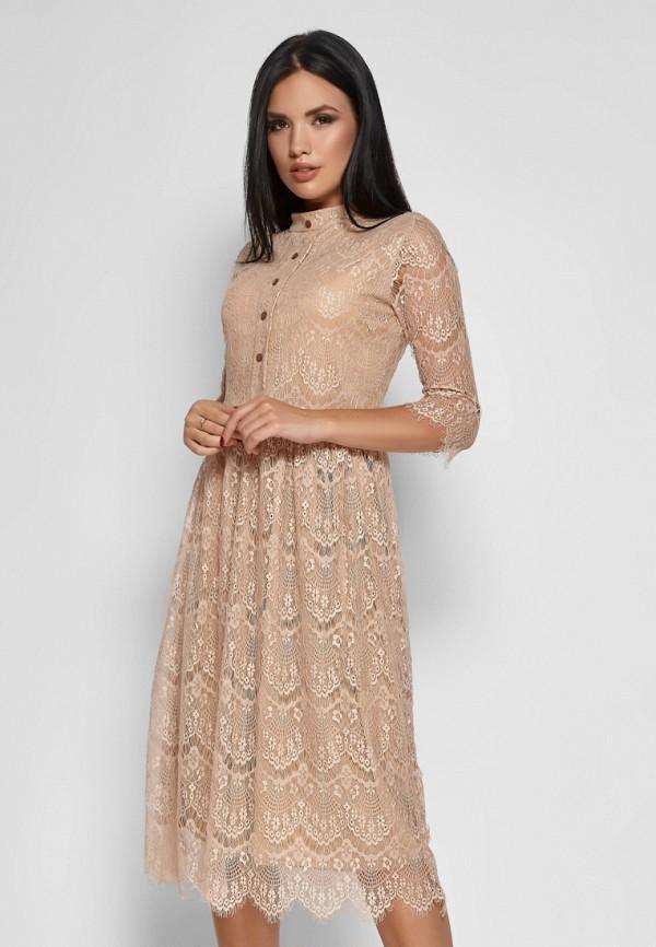 женское вечерние платье karree, бежевое
