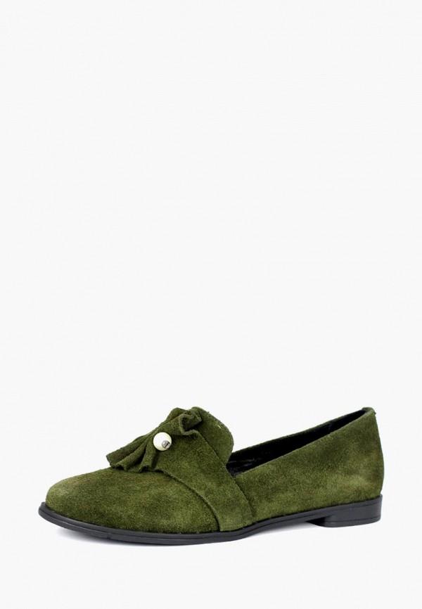 женские лоферы belletta, зеленые
