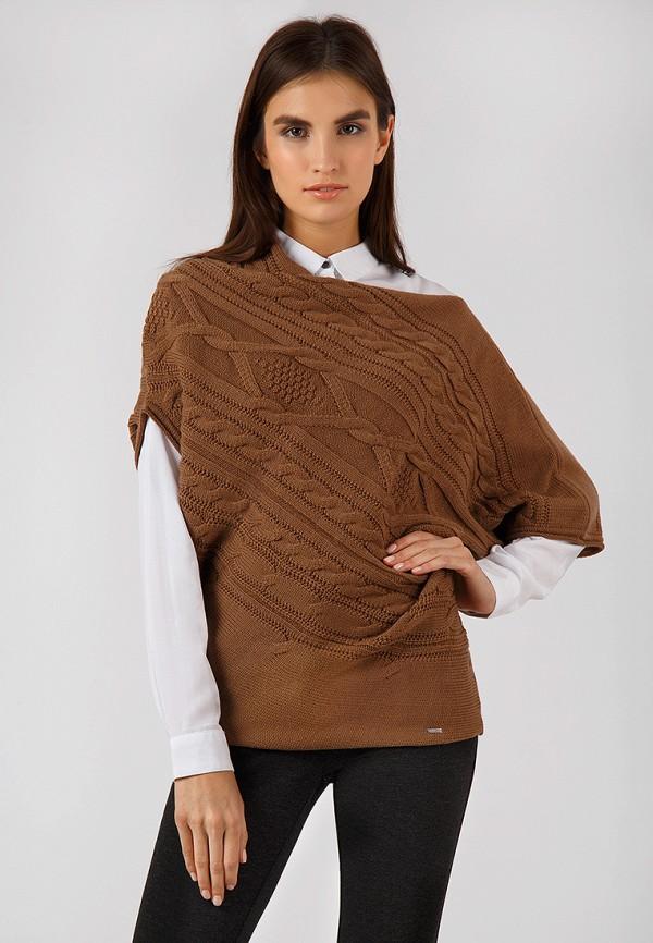 женский джемпер finn flare, коричневый