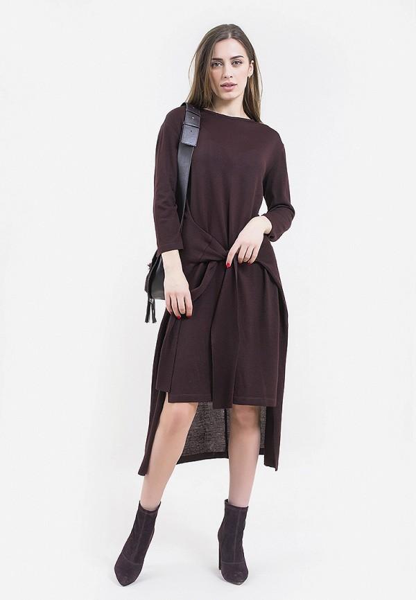 женское повседневные платье maxa, бордовое