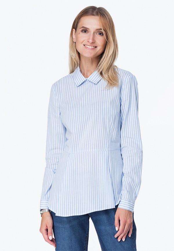 Купить Блуза Vilatte, mp002xw1gomp, голубой, Осень-зима 2018/2019