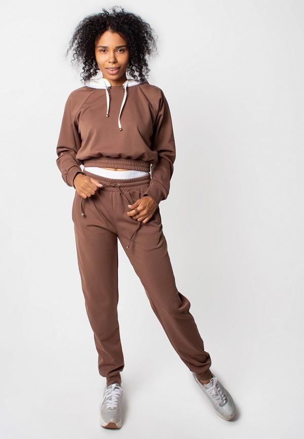женский спортивные спортивный костюм malaeva, коричневый