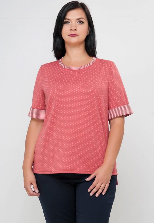женская футболка limonti, розовая