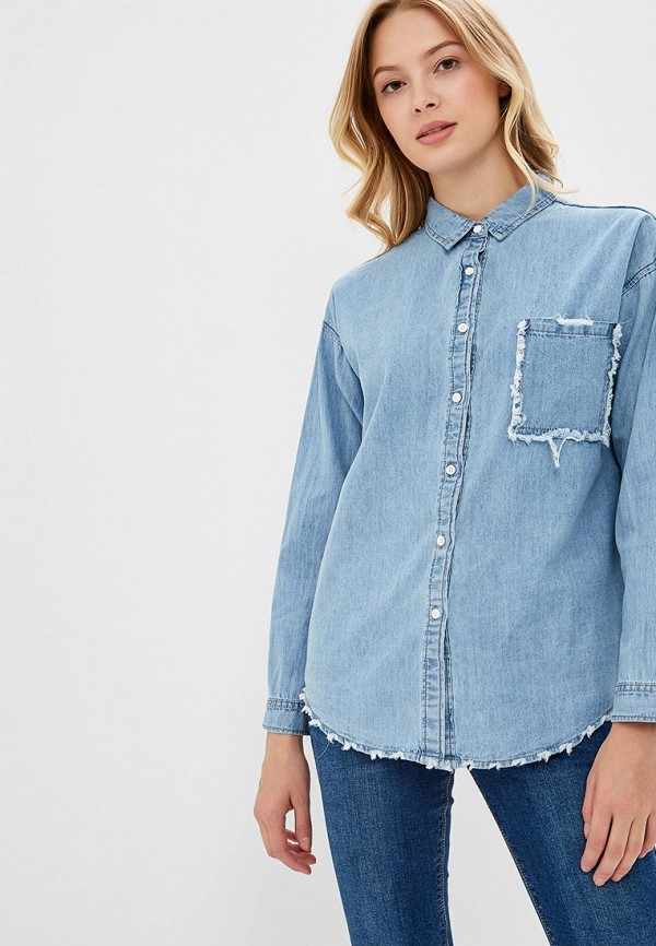 Купить Рубашка джинсовая Mazal, mp002xw1gpbg, голубой, Осень-зима 2018/2019