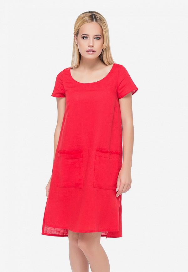 женское повседневные платье morandi, красное
