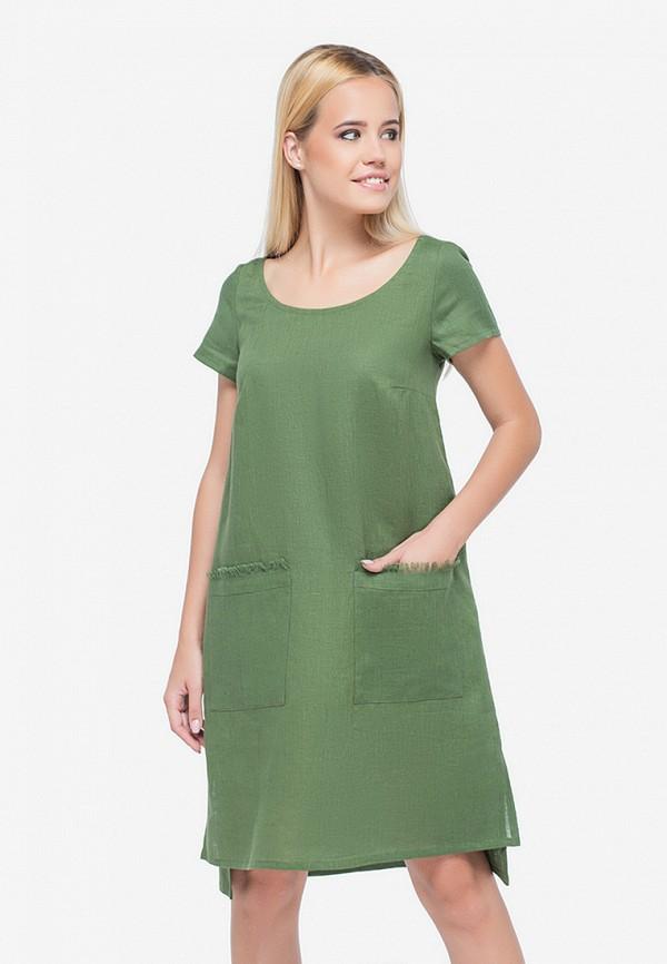 женское повседневные платье morandi, зеленое
