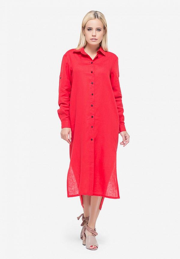 женское платье morandi, красное