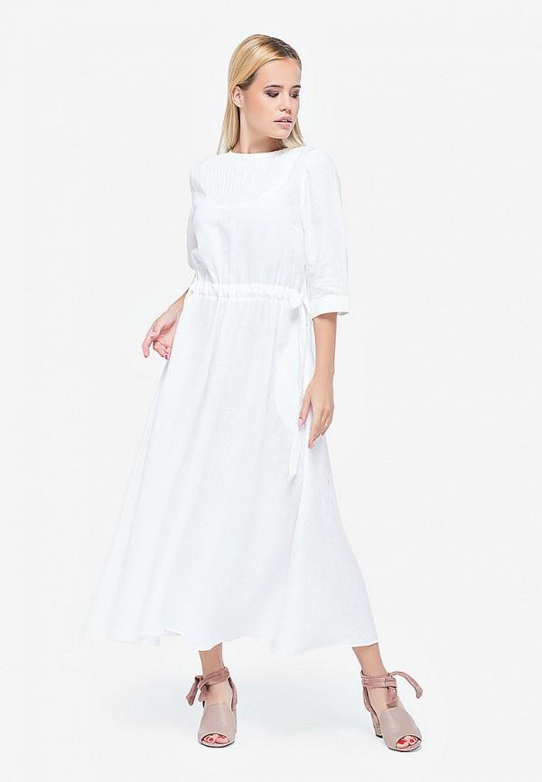 женское повседневные платье morandi, белое