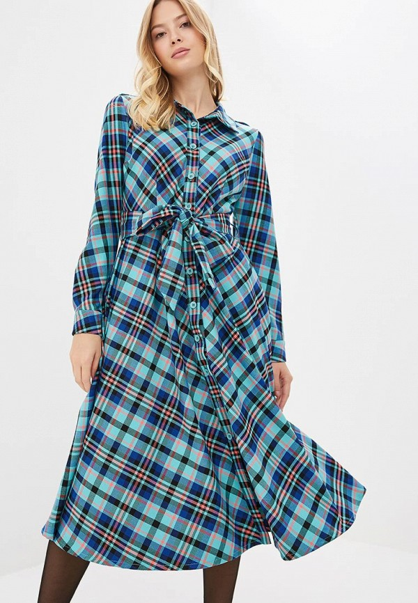 женское платье bezko, бирюзовое