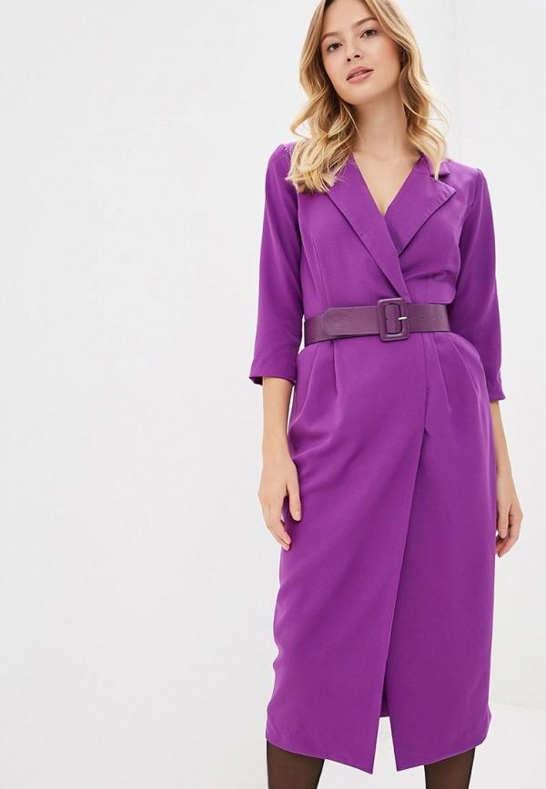 женское повседневные платье bezko, фиолетовое