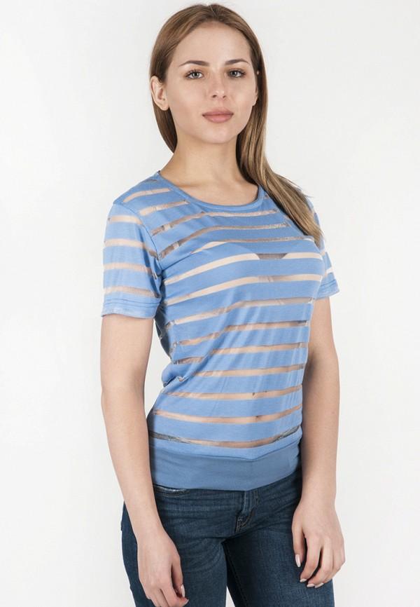 женская футболка vergans, голубая