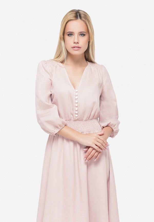 женское повседневные платье morandi, розовое