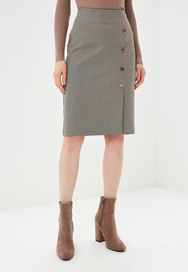 женская прямые юбка eliseeva olesya, бежевая