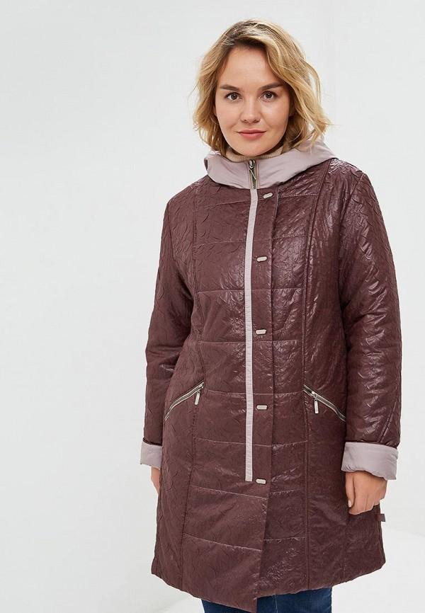 женское пальто wiko, бордовое